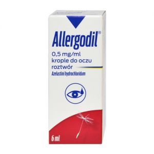 Allergodil krople do oczu 0,5mg/1ml 6ml